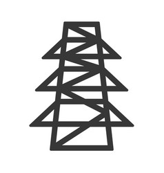 Electric tower symbol vector