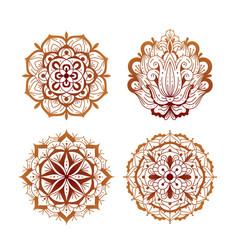 elements mehndi henna tattoo ethnic ornaments vector image