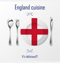 england cuisine cutlery vector image