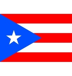 Flag of Puerto Rico in correct proportions colors vector
