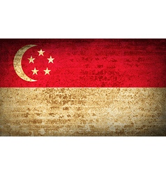 Flags Singapore with dirty paper texture vector
