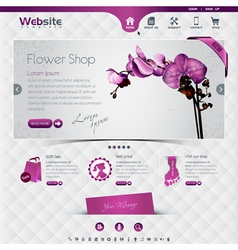flower shop vector image
