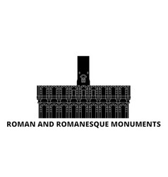 France arles roman and romanesque monuments vector