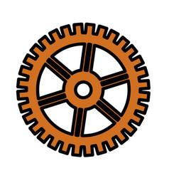Gear wheel icon vector