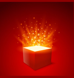 gift box background box strat fly gift red vector image