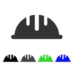 Helmet flat icon vector
