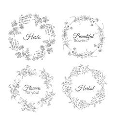 Herbs Floral frames vector