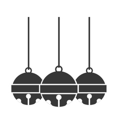 image monochrome with three garland vector image