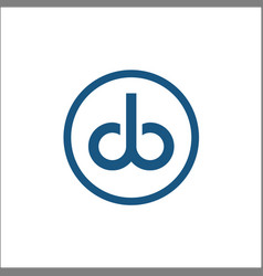 letter db in a circle logo template monogram vector image
