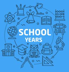 linear school yaers vector image