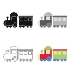 Locomotive cartoon icon for web and vector
