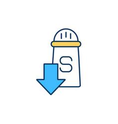 Low-sodium diet rgb color icon vector