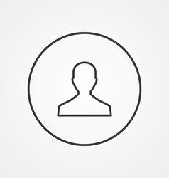 male outline symbol dark on white background logo vector image