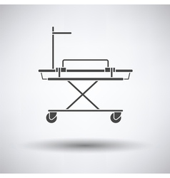 Medical stretcher icon vector image vector image