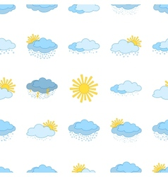 meteorological symbols seamless vector image