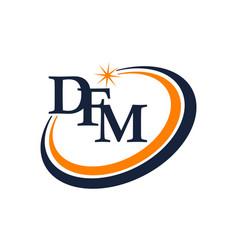Modern logo solution letter d f m vector