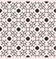 Monochrome ornament texture seamless floral vector