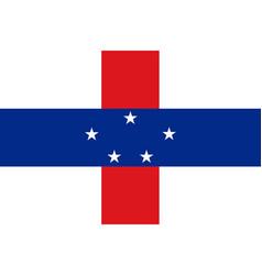 Netherlands antilles flag caribbean state flag vector