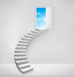 Open door to a dreamy place vector