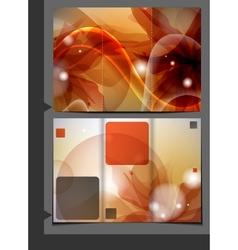 Orange Template For Advertising Brochure vector