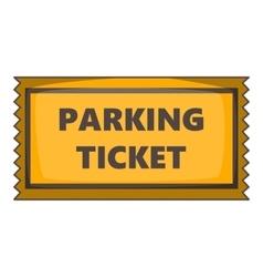 Parking ticket icon cartoon style vector