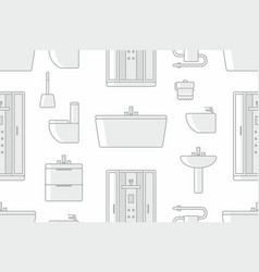 pattern with elements for bathroom vector image