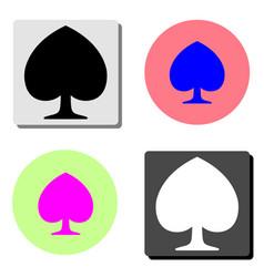 peaks suit flat icon vector image