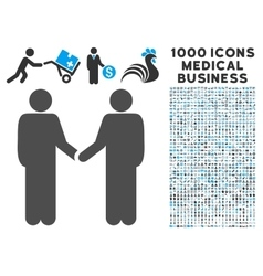 Persons Handshake Icon with 1000 Medical Business vector image