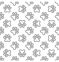 Pet paw pattern - seamless texture vector image