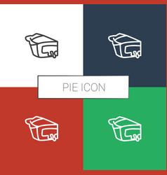 Pie icon white background vector