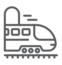 railroad trip line icon travel and tourism vector image