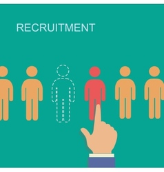 recruitment and human resource infographics vector image