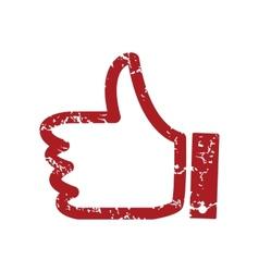 Red grunge like logo vector