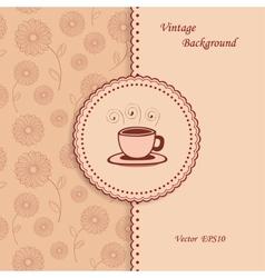 Retro Coffee Background vector image