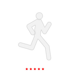 running man - stick it is icon vector image