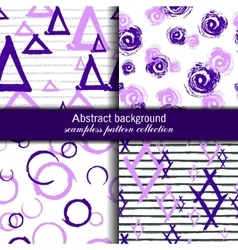 set endless patterns seamless modern vector image