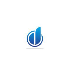 Shape abstract round d monogram logo vector