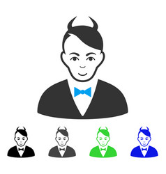 smiling devil icon vector image
