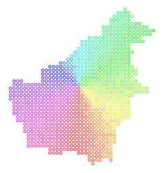 Spectral borneo island map vector