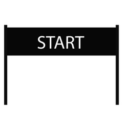 Start icon on white background start sign flat vector
