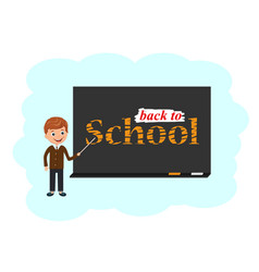 student is responsible to the board shows vector image