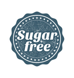 sugar free stamp webseal or badge for products vector image