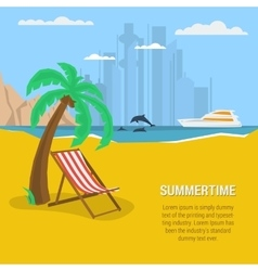 Summertime - square banner vector