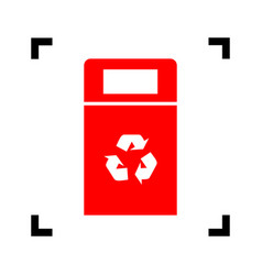 trashcan sign red icon vector image