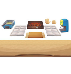 utensils for cooking game vector image