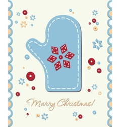 Vintage holiday patchwork card vector