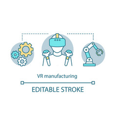 Vr manufacturing concept icon vector