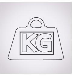 Weight kilogram icon vector