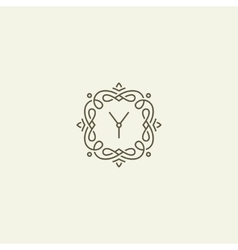 Y monogram template vector image