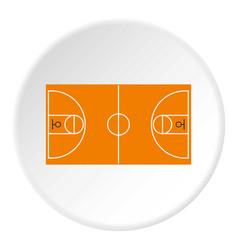 Basketball field icon circle vector